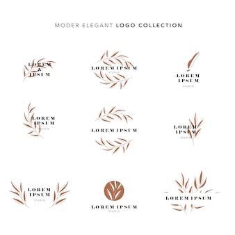 Moderne elegante logo-collectie