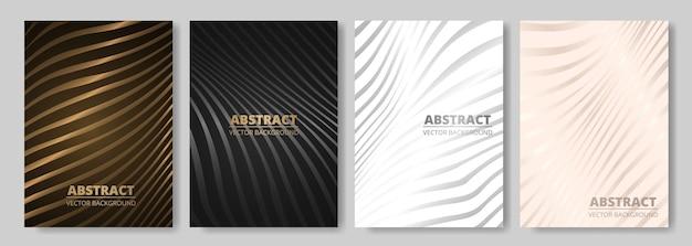 Moderne elegante luxe omslagontwerpset voor presentatie van flyer-lay-outbrochure