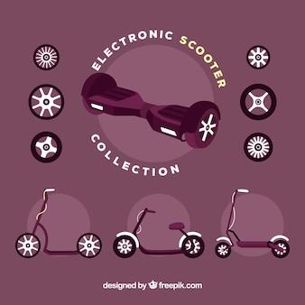 Moderne elektronische scooter collectie