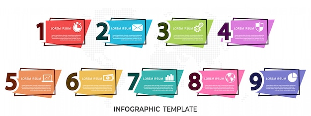 Moderne elementen infographic