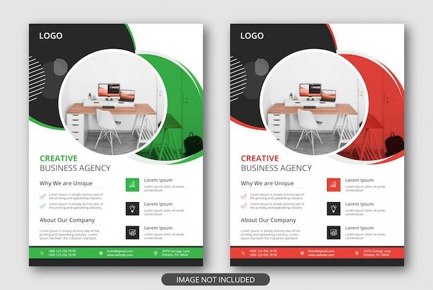 Moderne en creatieve flyersjablonen voor zakelijke promotie