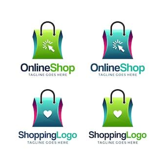 Moderne en creatieve online winkel logo ontwerpen sjabloon.