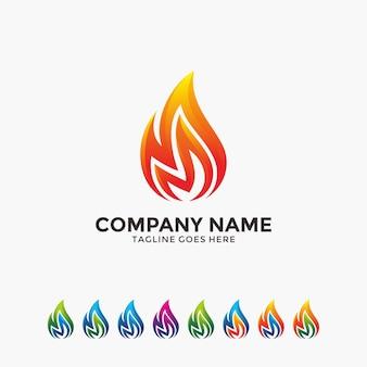 Moderne en creatieve vlam ontwerpsjabloon.
