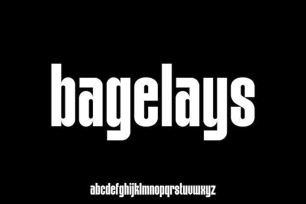 Moderne en elegante alfabet lettertype vector