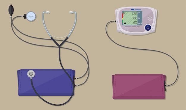 Moderne en klassieke bloeddrukmeting