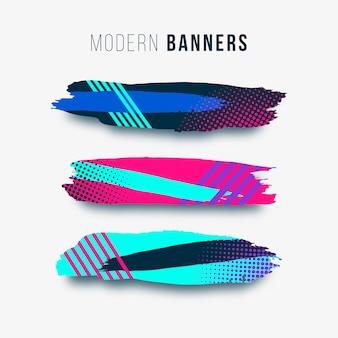 Moderne en kleurrijke penseelstreken
