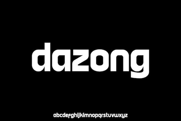 Moderne en luxe alfabet lettertype vector