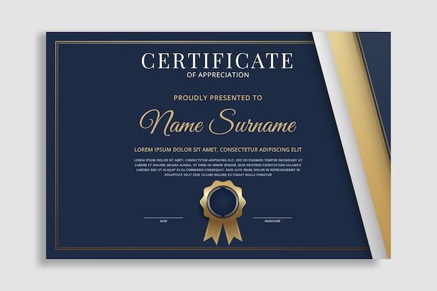 Moderne en luxe certificaatrandsjabloon
