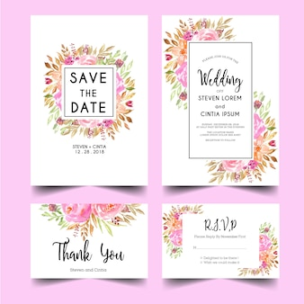 Moderne en zoete huwelijksuitnodiging