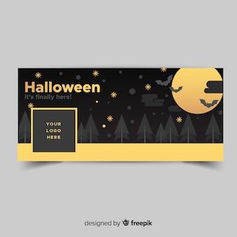 Moderne facebookbanner met halloween-concept