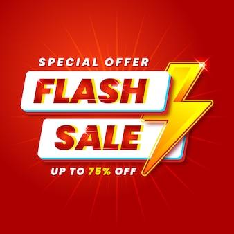Moderne flash verkoop banner promotie sjabloon