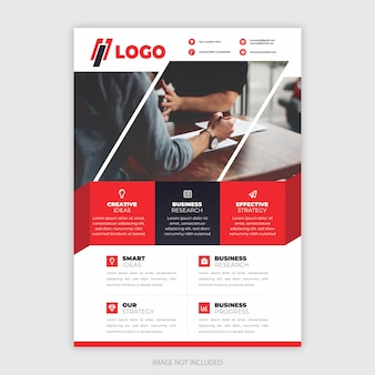 Moderne flyer voor bedrijven en bedrijven