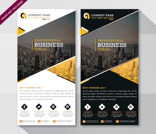 Moderne flyer voor zakelijke klanten