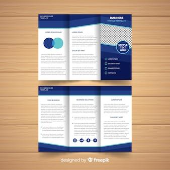 Moderne folder sjabloon met infographic elementen Gratis Vector