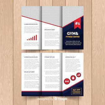 Moderne folder sjabloon met infographic elementen