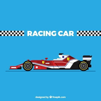 Moderne formule 1 raceauto met plat ontwerp