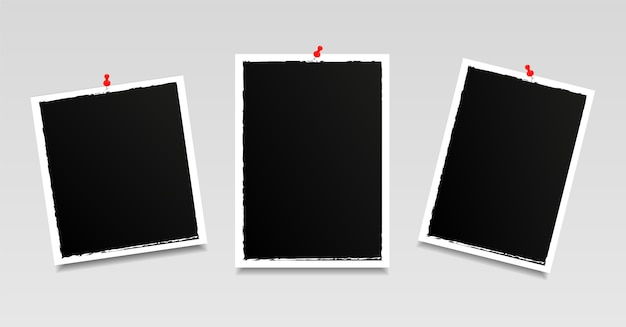 Moderne fotolijsten ingesteld