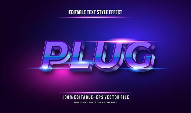 Moderne futuristische stijl en bewerkbare tekststijl met glanzend blauw effect. vector bewerkbaar teksteffect