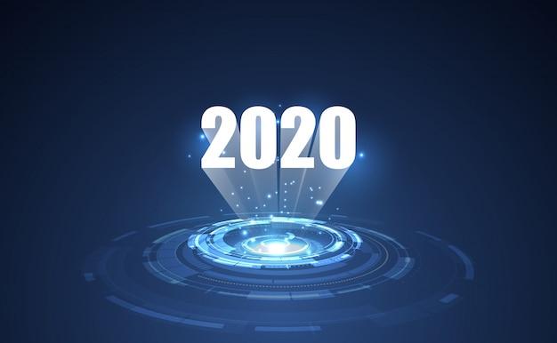 Moderne futuristische technologie sjabloon voor 2020.