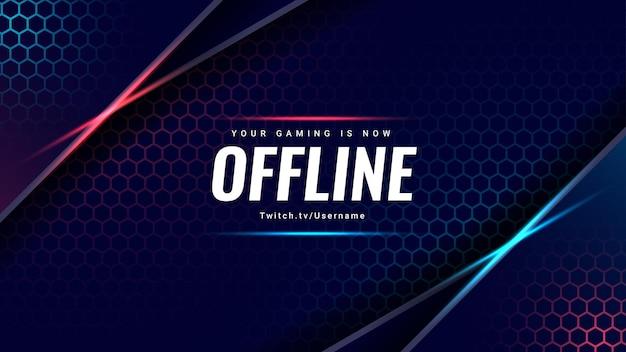 Moderne game-achtergrond je gamen is nu offline