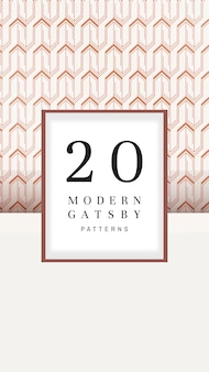 Moderne gatsby-patronen set-collectie