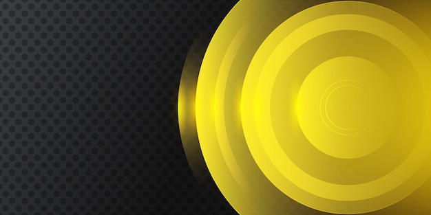 Moderne gele zwarte 3d abstracte achtergrond
