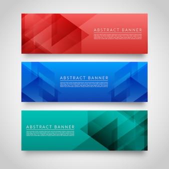 Moderne geometrische banners