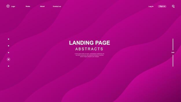 Moderne geometrische. gradiënt abstracte banner met vloeiende vloeibare vormen.