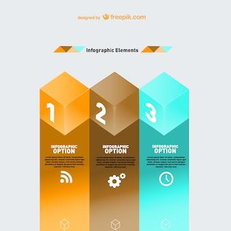 Moderne geometrische infografie template