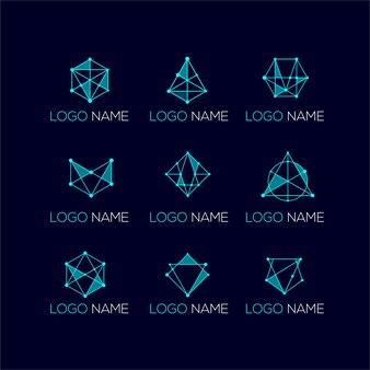 Moderne geometrische logo sjabloon