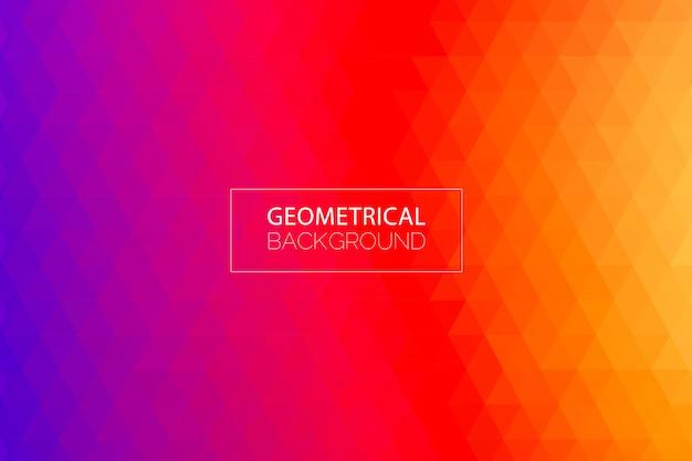 Moderne geometrische paars oranje achtergrond