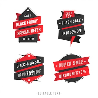 Moderne geometrische verkoopbanner en black friday-collectie