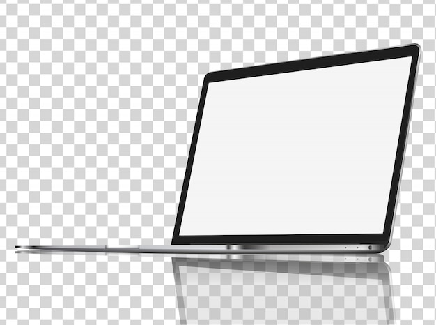 Moderne glanzende laptop