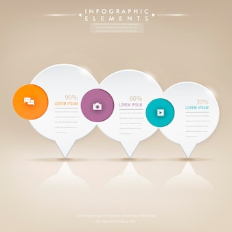 Moderne glanzende tekstballon infographic elementen sjabloon