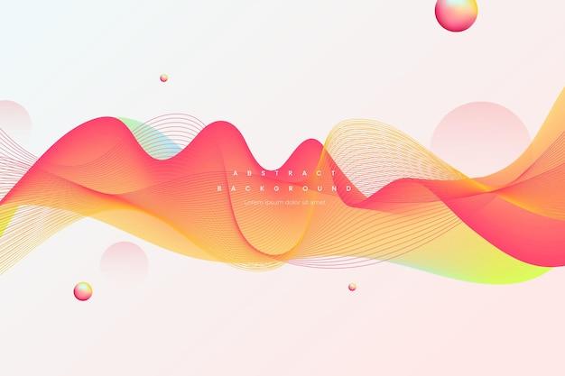 Moderne golfvormige abstracte achtergrond