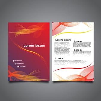 Moderne golvende a5 brochure