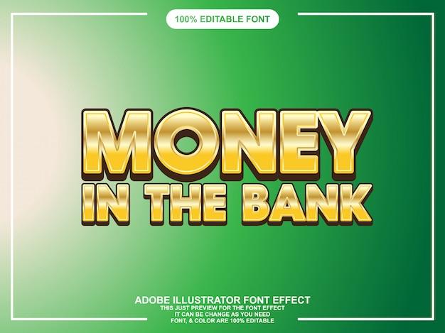 Moderne gouden bewerkbare illustrator tekst effect grafische stijl