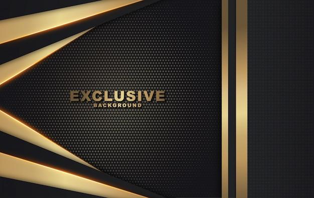Moderne gouden en zwarte luxeachtergrond