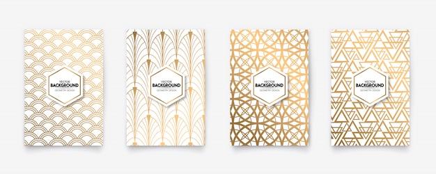 Moderne gouden patroon art deco geometrie stijl textuur achtergrond