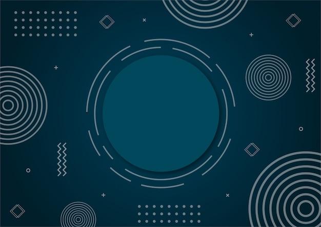 Moderne gradiënt blauwe abstracte geometrische vorm.