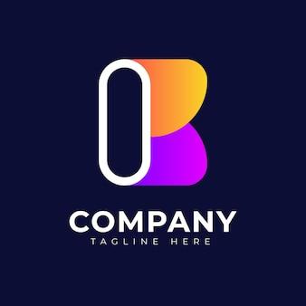 Moderne gradiënt stijl eerste letter b kleurrijke vector logo ontwerp