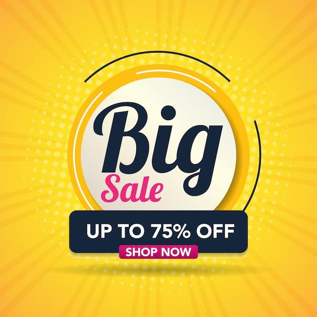 Moderne grote verkoop banner vectorillustratie