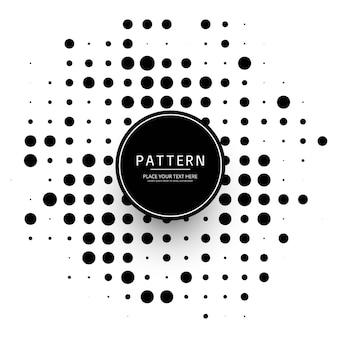 Moderne halftone gestippelde ontwerpvector