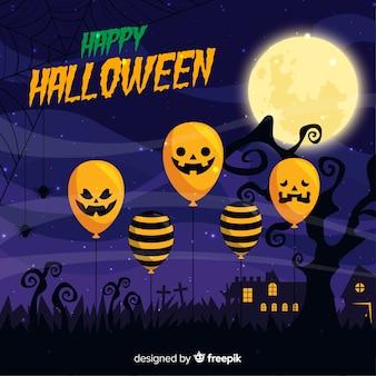 Moderne halloween-ballonachtergrond