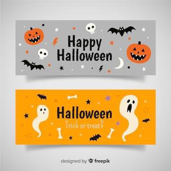 Moderne halloween-banners