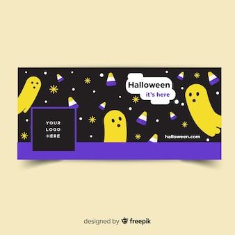 Moderne halloween facebook banner