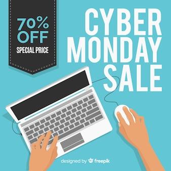Moderne hand getrokken cyber maandag samenstelling