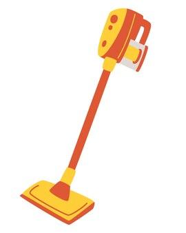 Moderne handmatige stofzuiger. stofzuiger voor huis of appartement en professionele reiniging. elektrisch apparaat voor het reinigen.