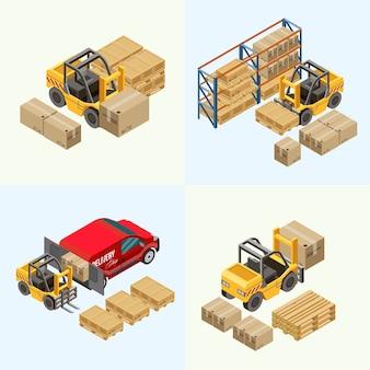 Moderne heftruck-verplaatsingspakketten