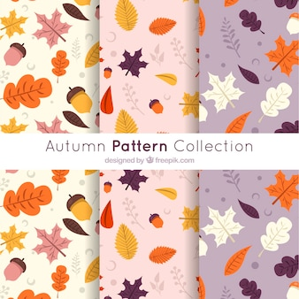 Moderne herfst patroon collectie